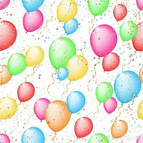 fondo transparente soleado con globos de colores y confeti ...