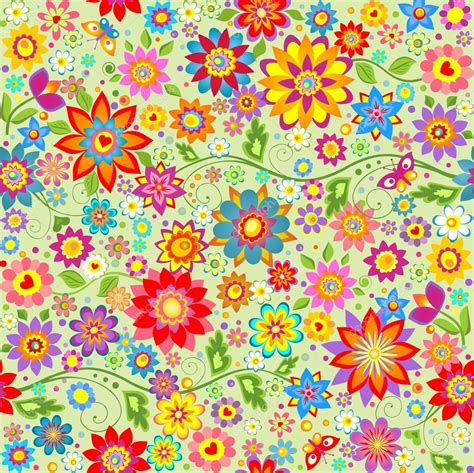 Fondos de primavera con flores divertidas abstractos ...