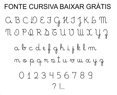 Fonte Letra Cursiva para baixar grátis - Super Dica ...