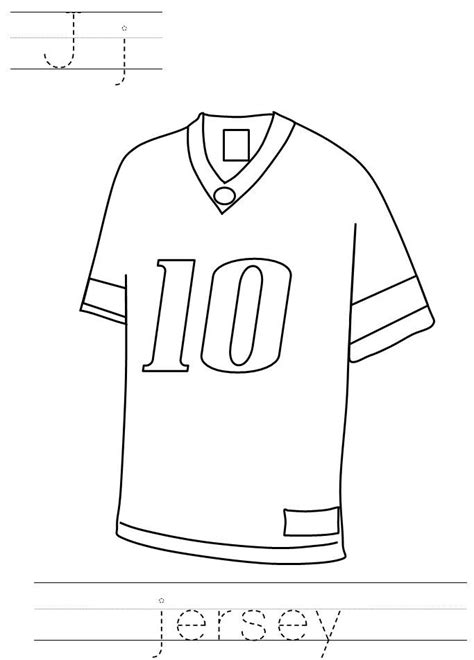 Football Jersey Coloring Pages - Bestofcoloring.com