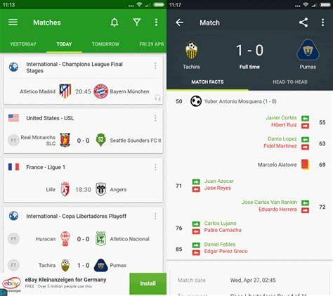Football Scores, todos tus marcadores en tu smartphone