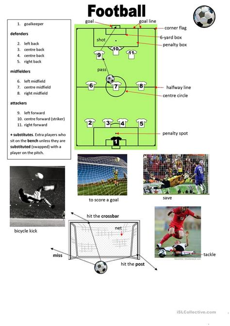 Football vocabulary worksheet   Free ESL printable ...