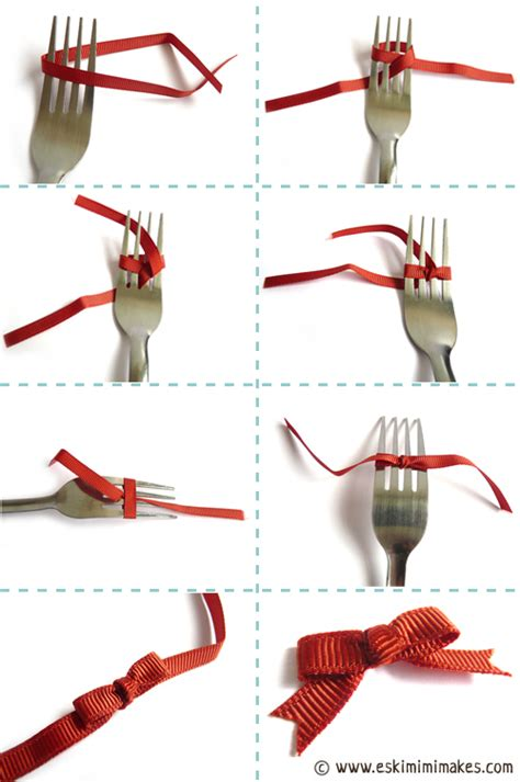 Fork Bows – How To Tie A Bow Using A Fork – Mimi Codd