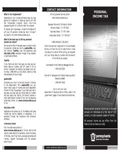 Form REV-581 Fillable Brochure: Personal Income Tax
