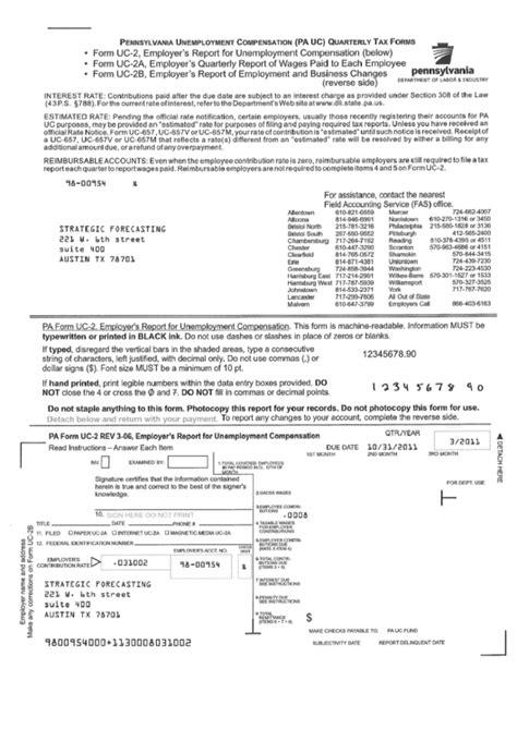 Form Uc-2 (uc-2f, Uc-2b) - Pennsylvania Unemployment ...