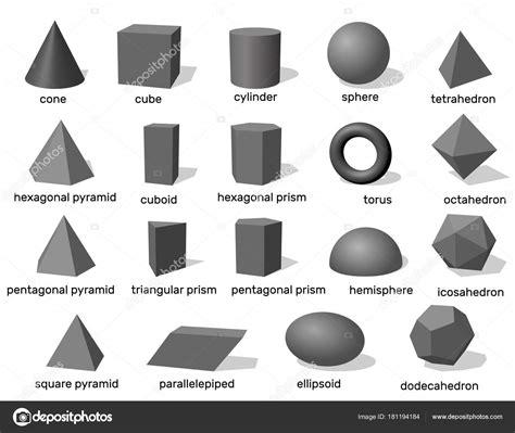 Formas geométricas 3d básicas. Isolado no fundo branco ...