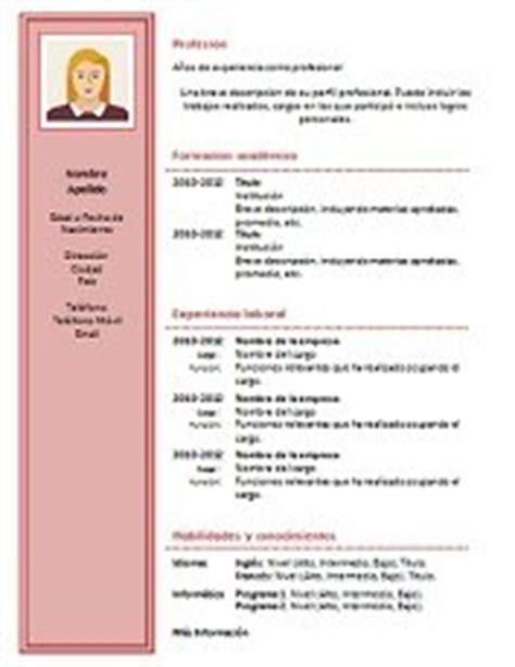 Formato de Curriculum Vitae Original