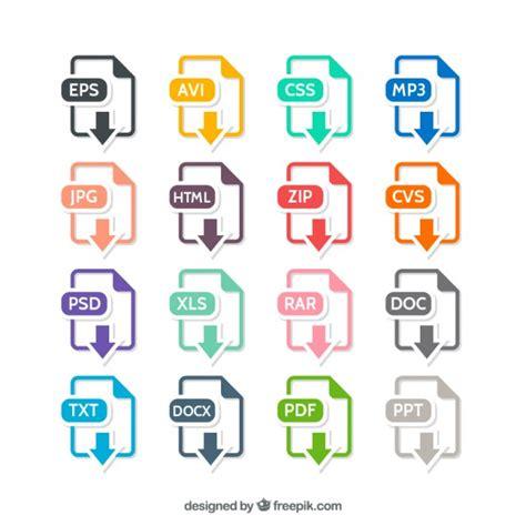 Formatos de archivo Coloridos | Descargar Vectores gratis