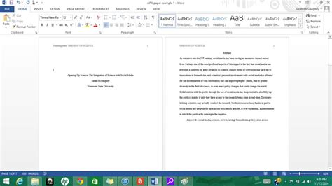 Formatting APA Style in Microsoft Word 2013: 9 Steps