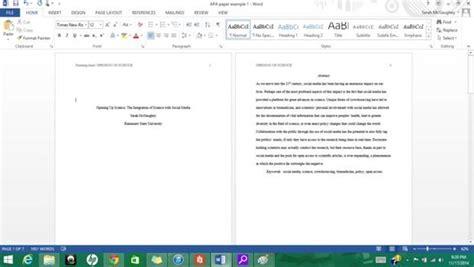 Formatting APA Style in Microsoft Word 2013: 9 Steps