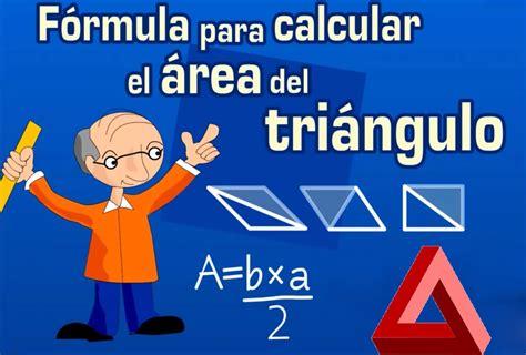 Fórmula para calcular el área de un triángulo y su ...