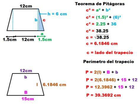 fórmula para obtener el área del trapecio | matematicas ...