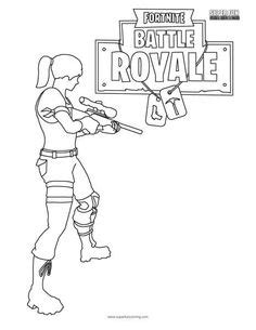 Fortnite Battle Royale Coloring Page | WORKSHEETS GALORE ...