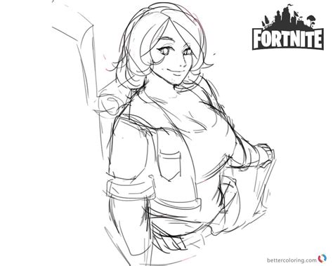 Fortnite Coloring Pages Brienne Fanart   Free Printable ...