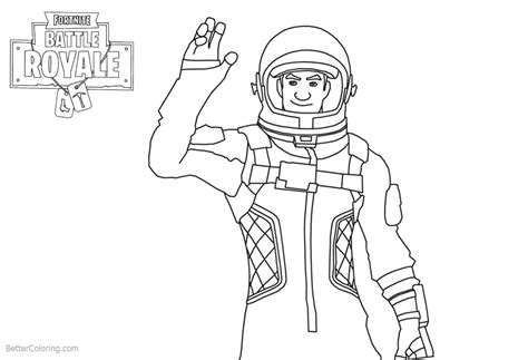Fortnite Coloring Pages Characters Clipart   Free ...