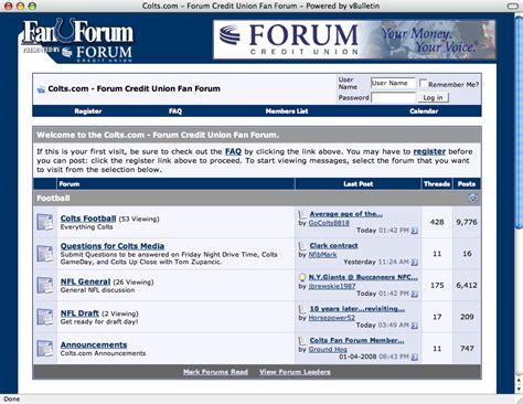 FORUM sponsors Indianapolis Colts online  Fan Forum