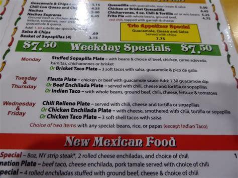 Foto de Garcia s Kitchen, Albuquerque: Part of menu ...