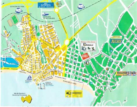 Foto de Playa de Levante, Benidorm: Map of Benidorm ...