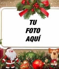 Fotomontaje con adornos de Navidad para subir tu foto ...