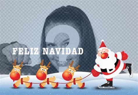 Fotomontaje de Feliz Navidad con Santa Claus   Fotoefectos