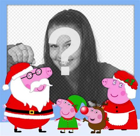 Fotomontaje de Navidad con la familia de Peppa Pig ...