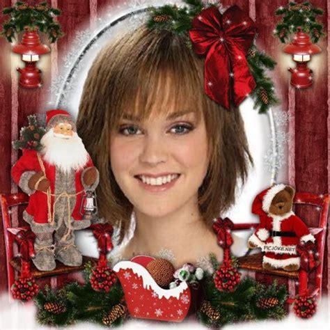 Fotomontaje de Navidad con Papa Noel y osito de peluche ...