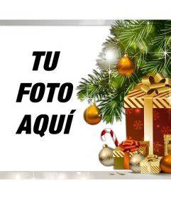 Fotomontaje de Navidad con regalos para subir tu foto ...