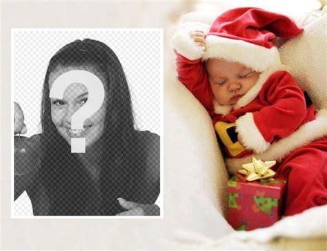 Fotomontaje de Navidad con un bebé para subir tu foto ...