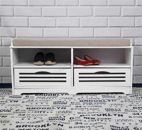 FoxHunter Almacenamiento zapatos Banco con cajones asiento ...