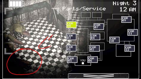 foxys paw on the floor in fnaf 2? - YouTube