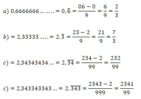 Fracción generatriz de un número decimal   Números decimales