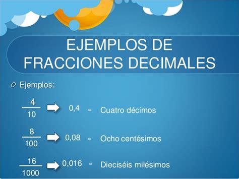 fracciones decimales y números decimales