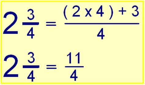 FRACCIONES: Transformar de fracción mixta a fracción impropia.
