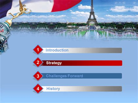 France PowerPoint Template, Backgrounds   00258 ...