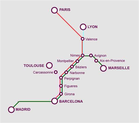 France Spain high speed train network