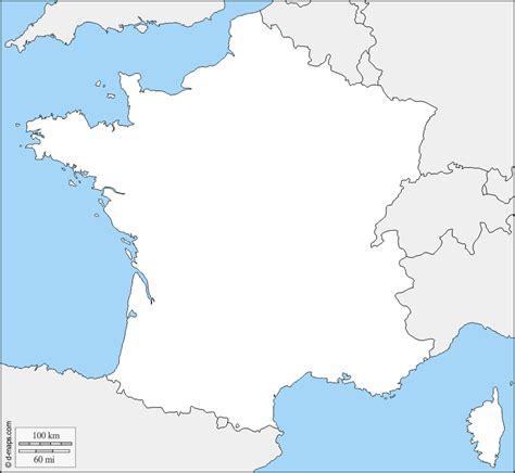 Francia Mapa gratuito, mapa mudo gratuito, mapa en blanco ...