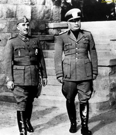 Francisco Franco and Benito Mussolini meeting in ...