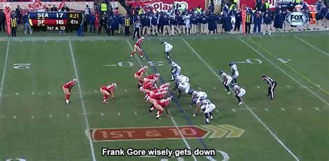 Frank Gore shows off football IQ on 51 yard run   Niners ...