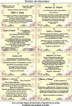 Frases De Invitaciones De Boda | TEXTO PARA INVITACIONES ...
