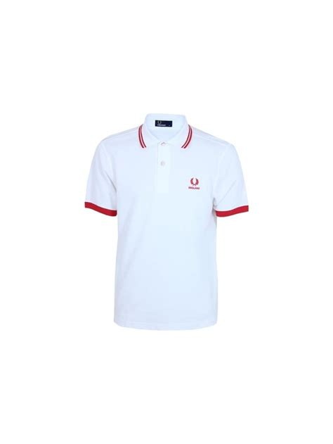 Fred Perry Country world Cup Polo in White   Northern Threads