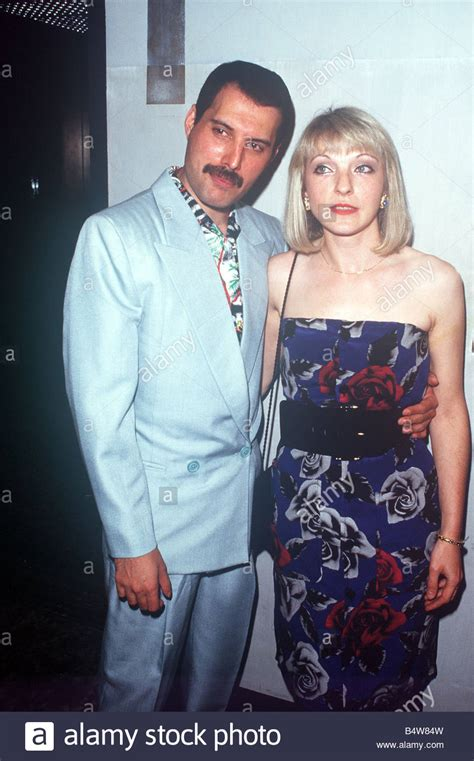 Freddie Mercury and Mary Austin at Queen party at London ...