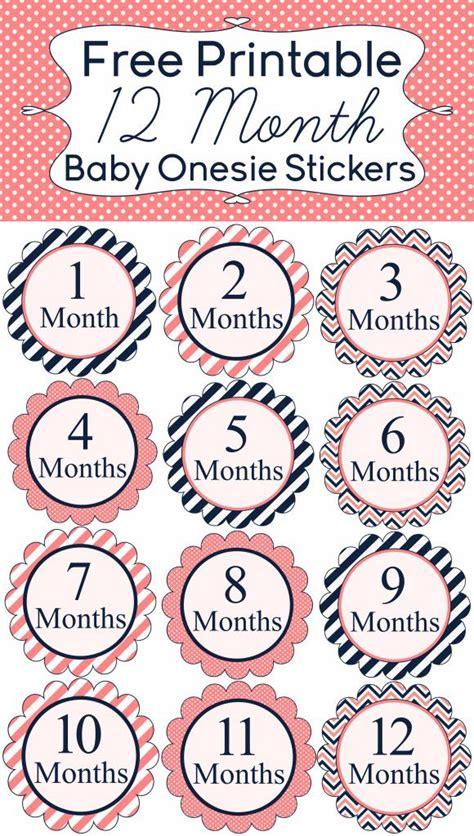 Free 12 Month Baby Onesie Sticker Printables | Baby onesie ...