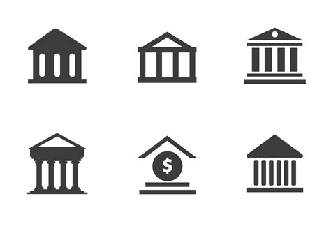 Free Bank Icon Vector   Download Free Vector Art, Stock ...