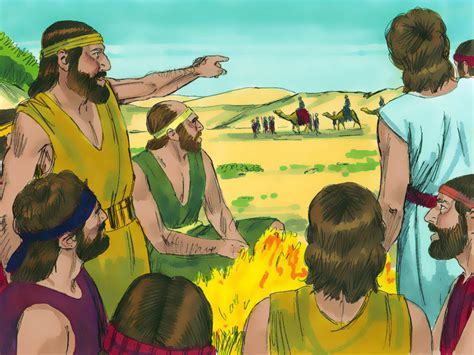 Free Bible images: Joseph is sold into slavery by his ...