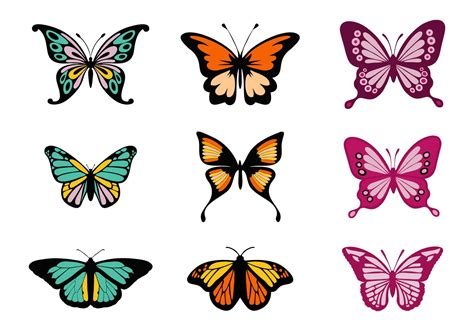 Free Colorful Butterflies Vector - Download Free Vector ...
