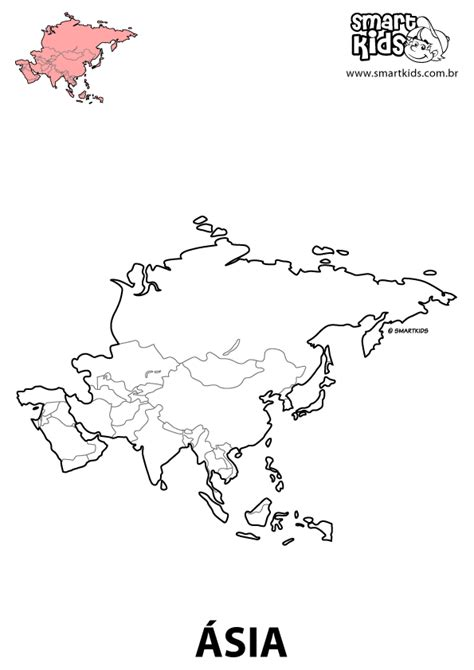 Free coloring pages of mapa continentes