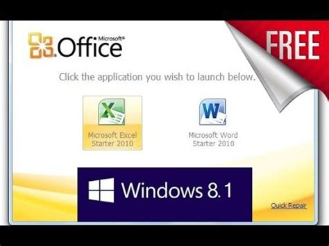 FREE - Get Microsoft Office starter Edition 2010 for ...