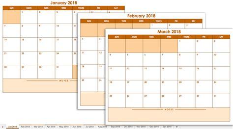 Free January Printable Calendars Excel 2018 | Printable ...