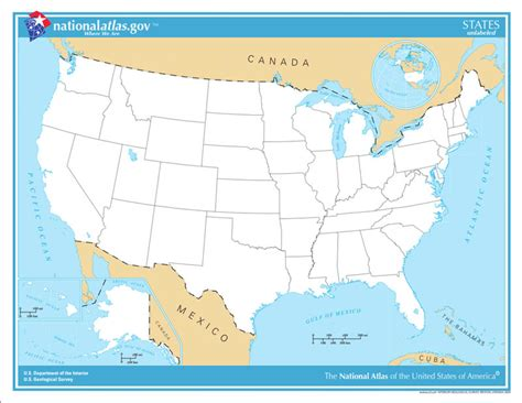 Free Online Interactive Map Of The United States State ...