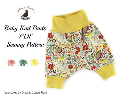 Free PDF Sewing Pattern For Baby Knit Pants | baby ...